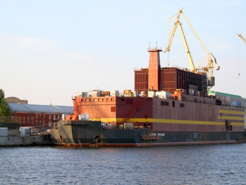 СМИ сообщили о пожаре на плавучей АЭС в Петербурге