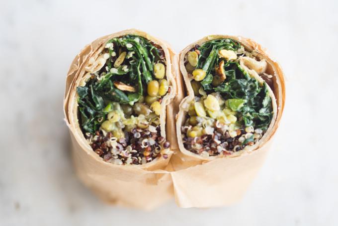 Make Ahead Super Green Vegan Quinoa Burritos Recipe - 101 Cookbooks