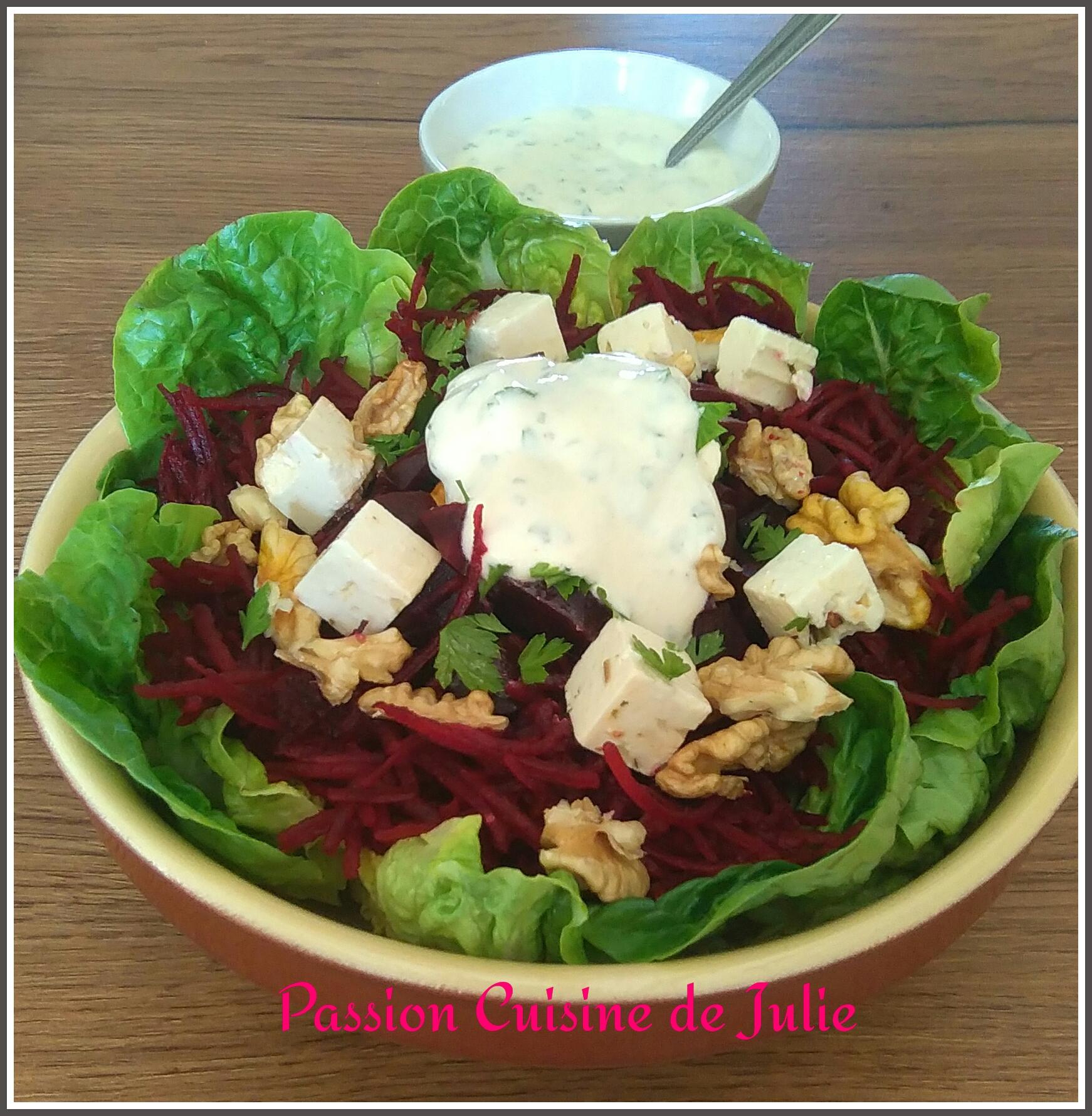 Salade aux 2 betteraves - Passion Cuisine de Julie