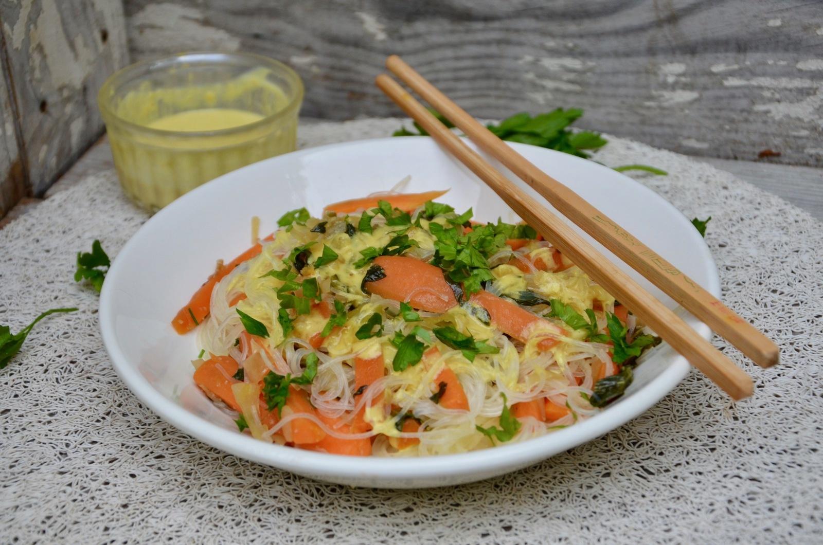 Salade de vermicelles au saté - La p'tite cuisine de Pauline