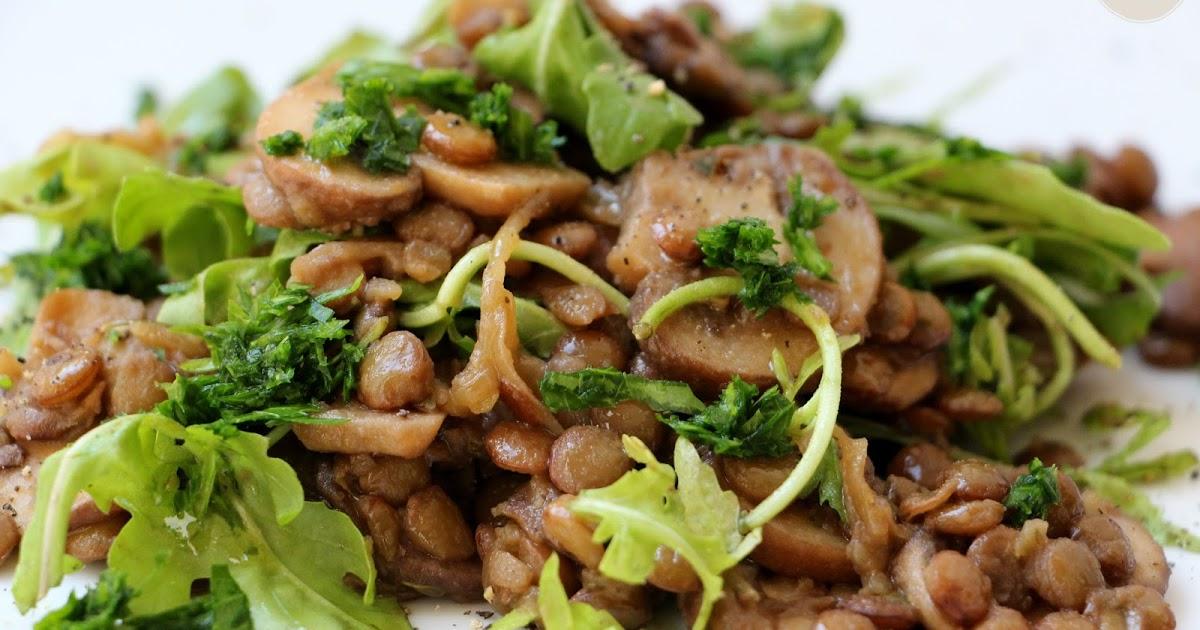 Salade d'automne, lentilles et champignons - La Fée Stéphanie