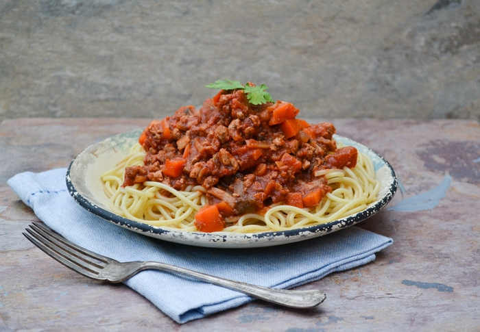 Vegan Spaghetti Bolognese - Batch Cooking - Tinned Tomatoes