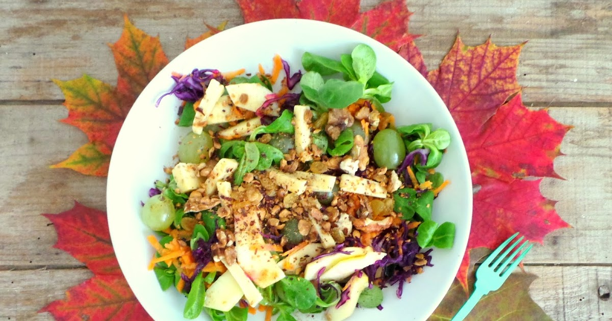 My Culinary Curriculum: Salade d'automne au gouda au cumin, noix et noisettes (Autumn salad with cumin gouda, walnut and hazelnut)