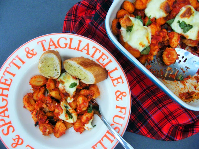 Tomato and Basil Gnocchi Bake - National Vegetarian Week - Tinned Tomatoes