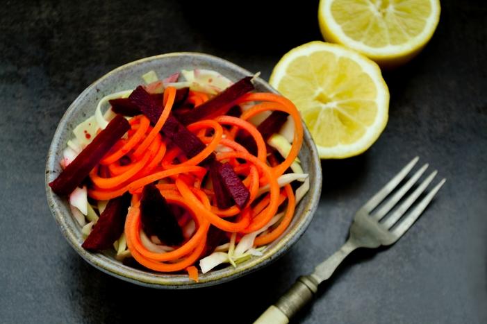 Turkish Carrot & Beetroot Side Salad - Tinned Tomatoes