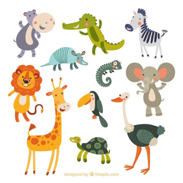 Drôle collection d'animaux dessinés à la main  | Télécharger des Vecteurs gratuitement