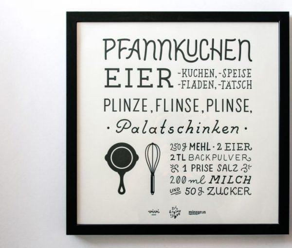 The Pancake Letterpress Print | minzgrün