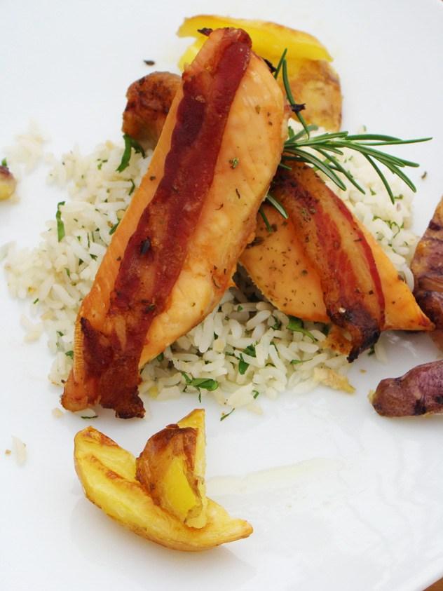 Pollo con Tocino y Romero - Espacio Culinario